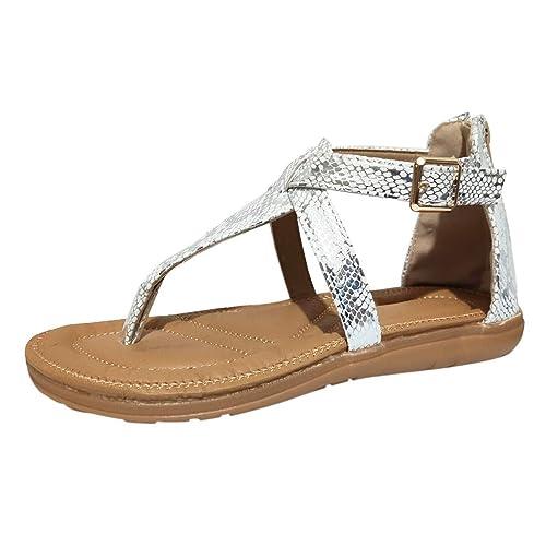 nouvelle collection divers styles acheter réel JYJM ❤️ des Sandales Compensee Femme Gladiateur Plates D ...