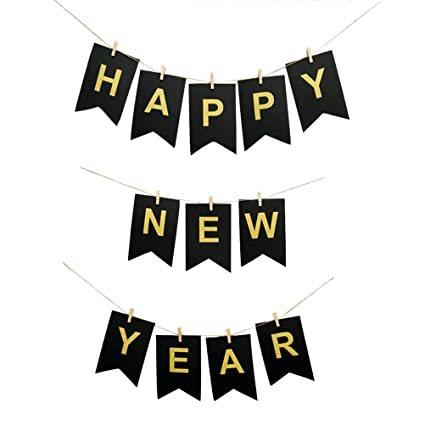 bestoyard new year banner happy new year hanging decorations for new years eve party supplies
