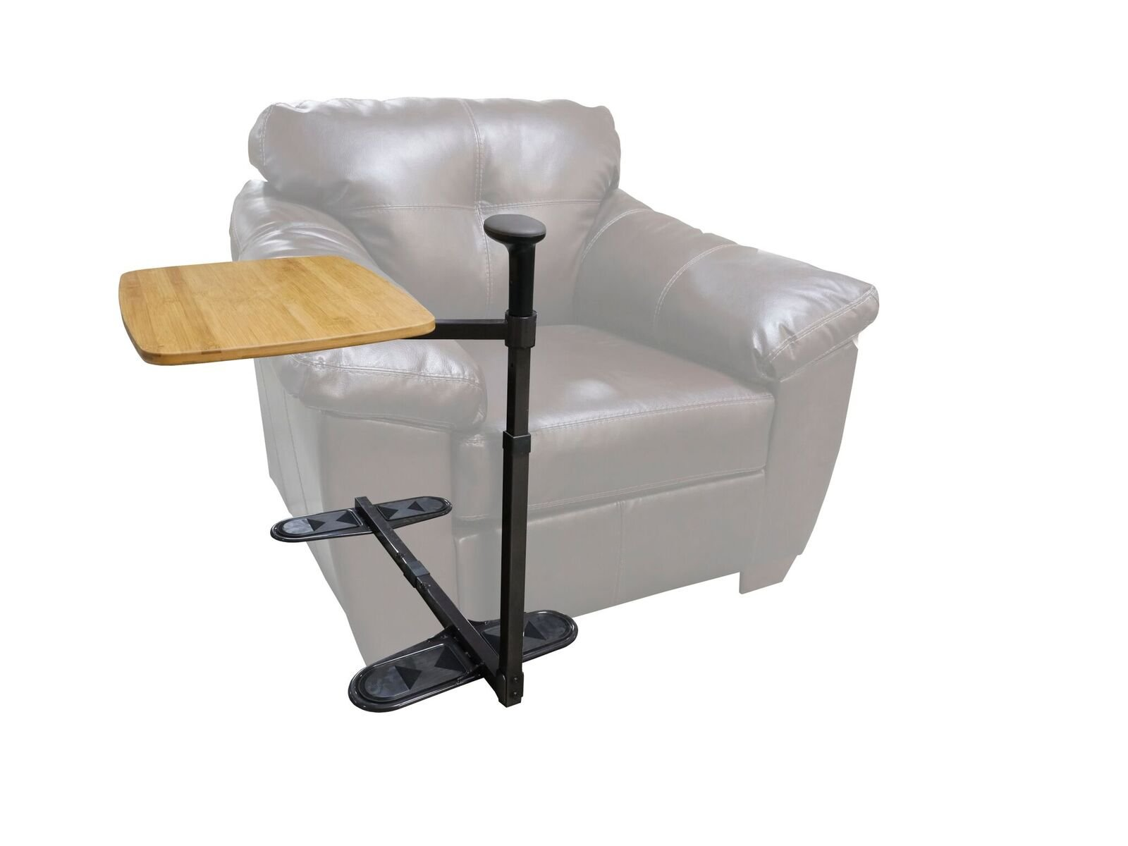 Omni Tray Table - Swivel Bamboo TV Tray  and Laptop Table & Support Mobility Handle + Daily Standing Support Aid by Stander