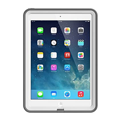 best sneakers bb84d e3b0b LifeProof FRĒ iPad Air Waterproof Case Retail Packaging - WHITE/GREY (1ST  Generation iPad Air Only)