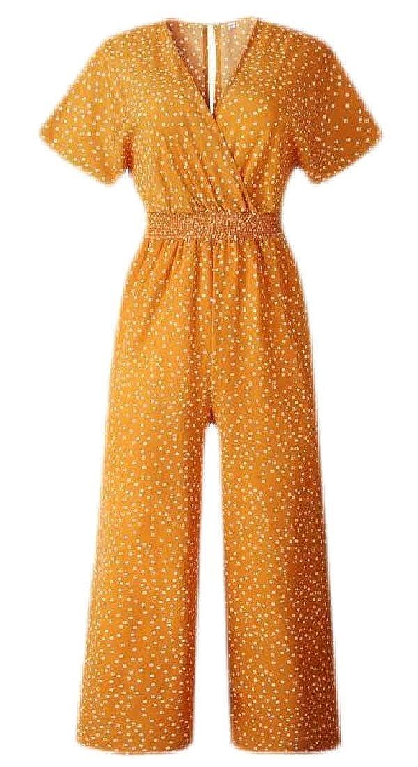 Lutratocro Womens Boho Camo Print Jumpsuits Spaghetti Strap Loose Harem Jumpsuit Rompers