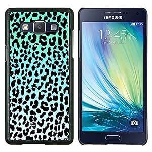 TECHCASE---Cubierta de la caja de protección para la piel dura ** Samsung Galaxy A5 ( A5000 ) 2014 Version ** --patrón de leopardo azul verde blanco negro