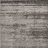 Unique Loom Del Mar Collection Contemporary Transitional Dark Gray Square Rug (8' x 8')