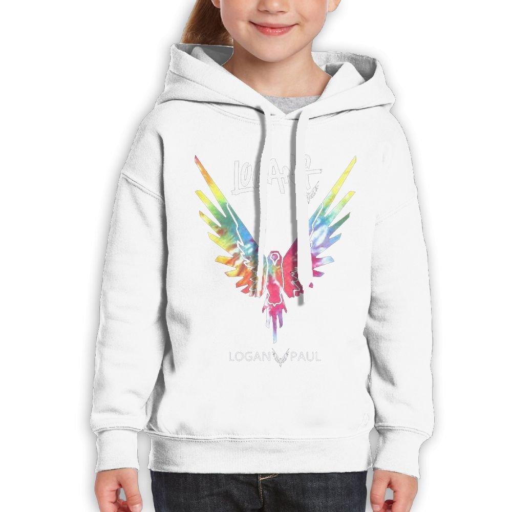 Addie E. Neff Pullover Parrot Logo Galaxy Logan Paul Logang Boys,Girls,Youth Casual Sweatshirt Pocket Hoodie M White