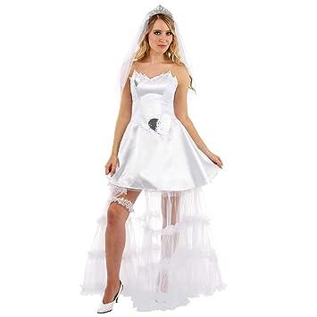 Fun Shack Blanca Novia Disfraz para Mujeres - S: Amazon.es ...