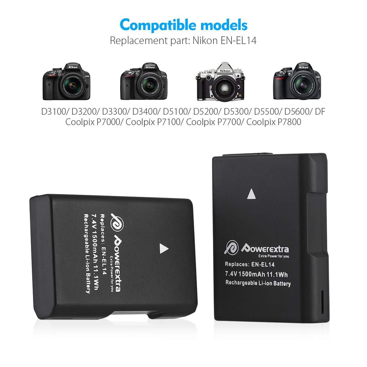 Coolpix P7000 7.4V battery for NIKON D5100 D3100 DSLR Coolpix P7700 Li-ion