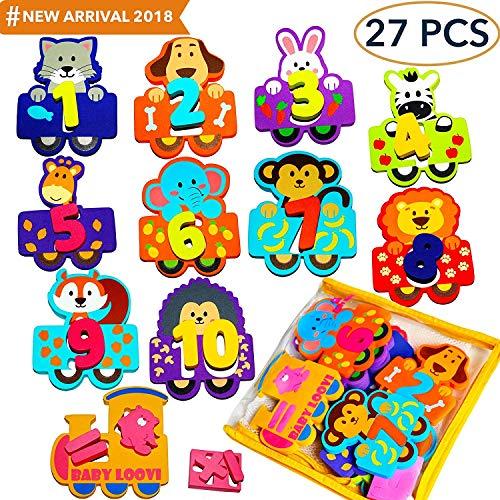babyloovi Foam Bath Toys Numbers Animals