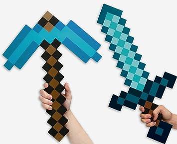 Minecraft Set Schwert Spitzhacke Diamond Edition Aus Eva