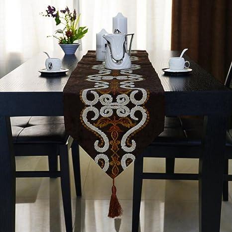 Miaoge toallas bordadas euro estilo caminos de mesa espesor monedas caminos de mesa Inicio Accesorios bandera
