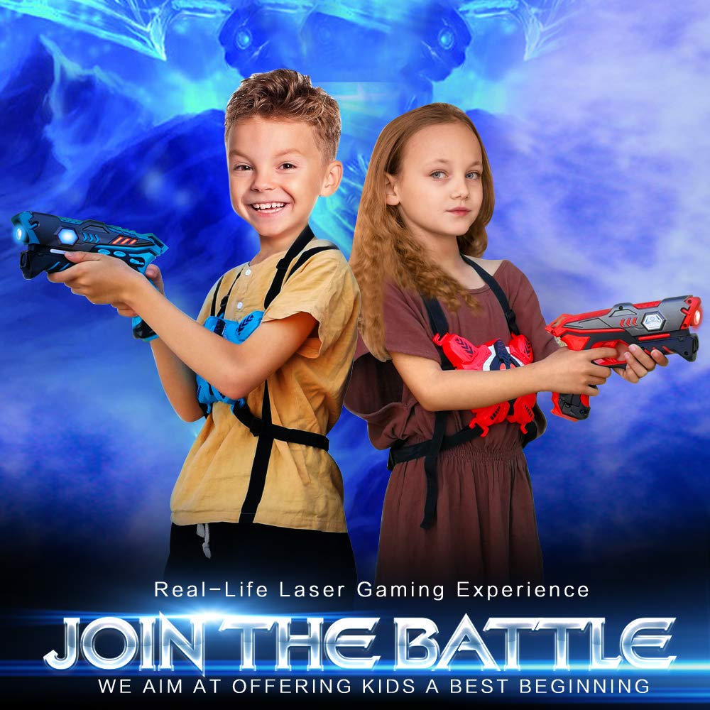 Laser Tag Guns Set with Vests, Infrared Guns Set of 4 Players by LUKAT (Image #2)
