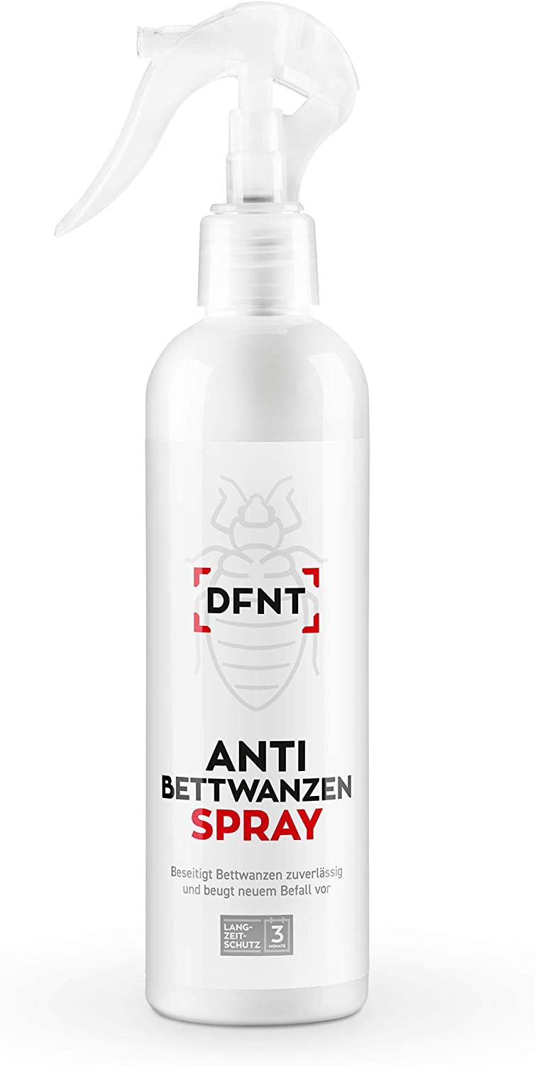 DFNT - Spray para chinches (250 ml) - Medio contra chinches - Ideal para Combatir chinches - Alternativa - Biodegradable