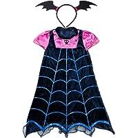 Lee Little Angel Chica Vampiro Historieta Princesa Falda y Tocado Adecuado para Halloween Falda Carnaval