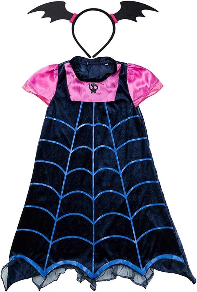 7 opinioni per Lee Little Angel Ragazza Vampiro Cartoon Principessa Abito e Copricapo Adatto