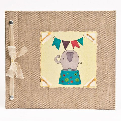 Baby Buch - Baby Memory Buch - Neutral, Unisex, Elephant, Baby Album - Elephant Baby Memory Buch - Hugs und Kisses Xo Elephant Baby Memory Book