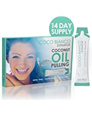 SOMATOX - COCONUT OIL PULLING KIT - Natural Teeth Whitening + FREE Tooth Shade Guide | Teeth Whitening Kit - Natural Teeth Whitening Detox - Virgin Coconut Oil With Mint | UK Formulated SOMATOX COCO BIANCO - Better Than Strips and Gels (14 Day Course)