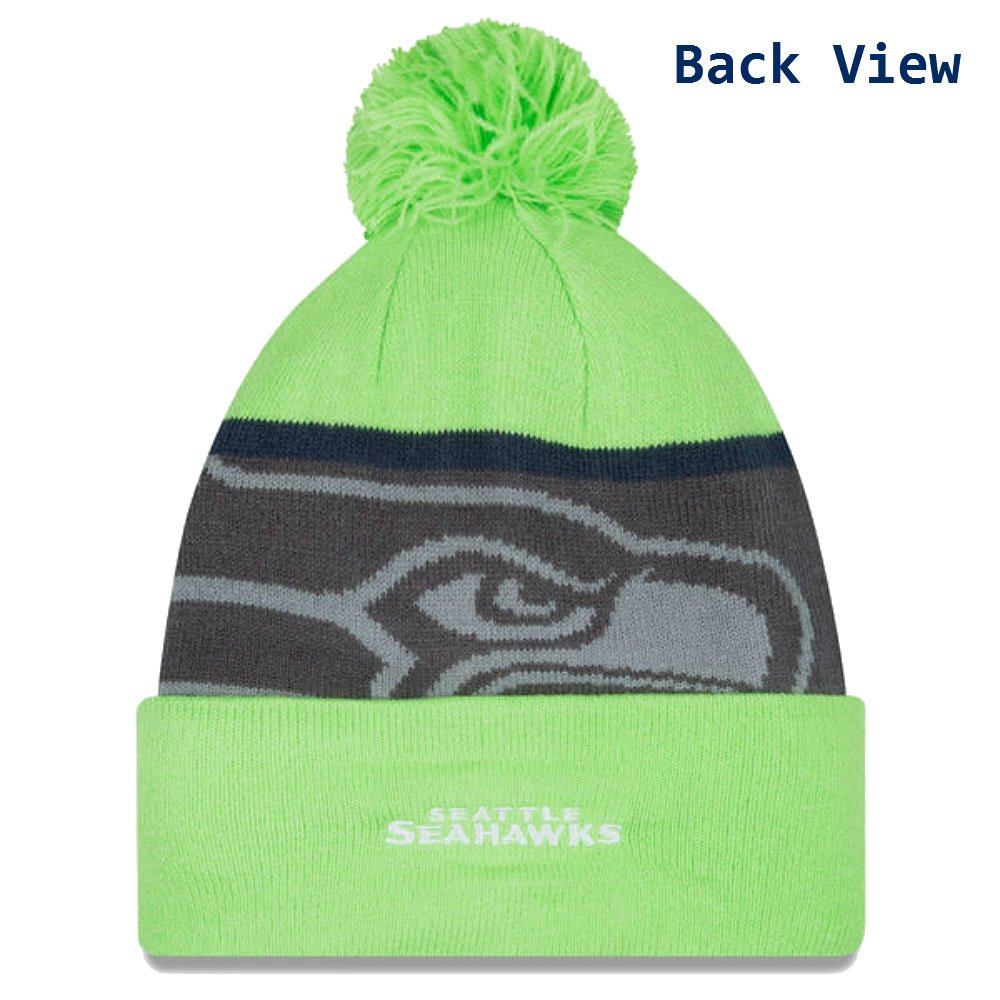 b6929946c1b75 Amazon.com   Seattle Seahawks New Era Gold Collection Team Color Knit  Beanie Hat Cap - Neon Lime Green   Graphite   Sports Fan Beanies   Sports    Outdoors