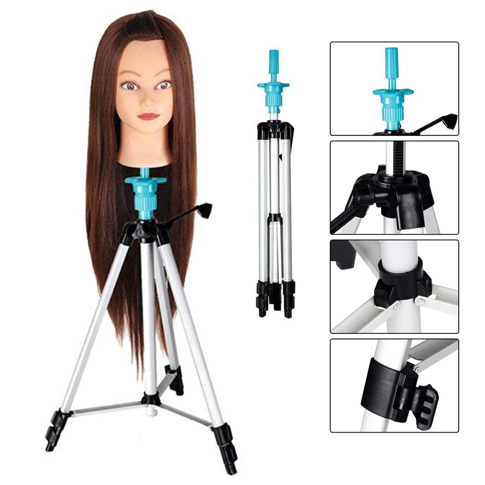 Beauty Star Parrucchiere Supporto Treppiede Regolabile Manichino Testina Pratica Titolare Per Testina Parrucchiere con borsa per il trasporto