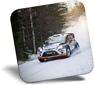 Destination Vinyl ltd Awesome Fridge Magnet - WRC Rally Car Sport Racing Snow 16578