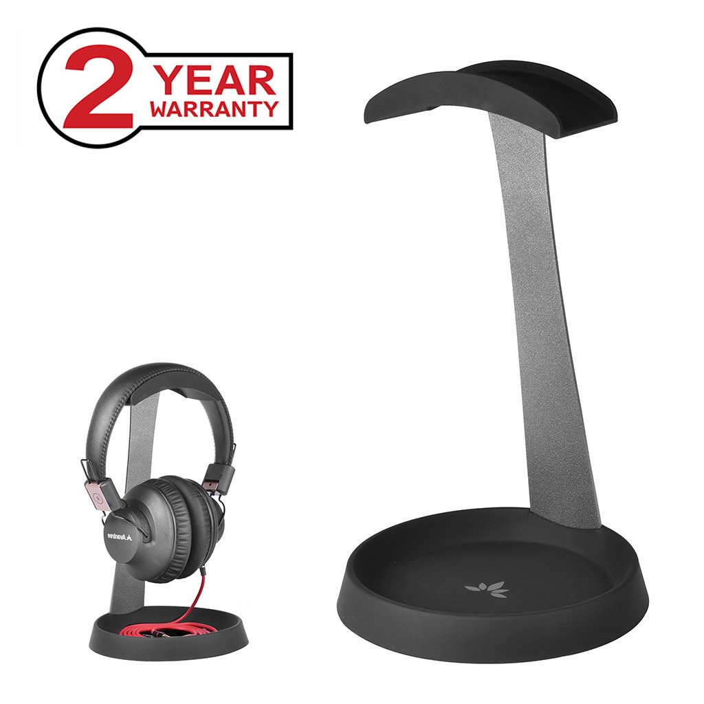 Avantree Aluminum Headphone Stand Headset Hanger With Cable Holder For Sennheiser, Sony, Audio Technica, Bose, Beats, Akg, Gaming Headset Display   Hs102 by Avantree