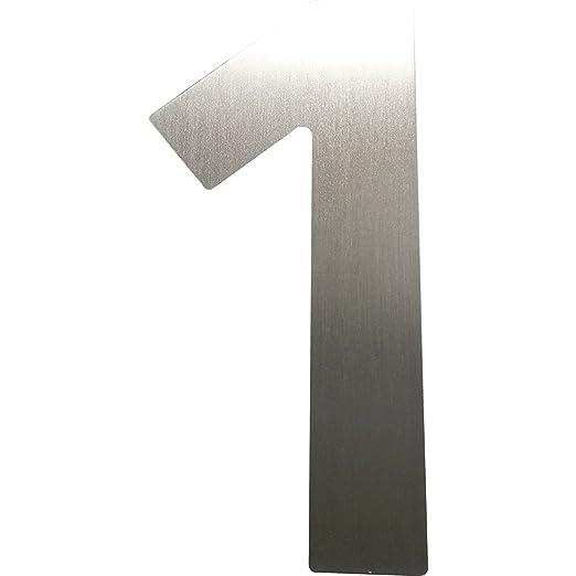 4 opinioni per Home System SM05130011 Numero Civico 1, Altezza 12 cm, in Acciaio Inox