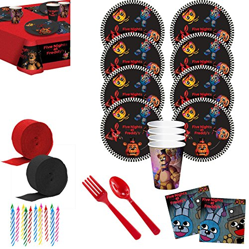 Costume SuperCenter Five Nights at Freddy's Deluxe Tableware Kit (Serves 8) ()