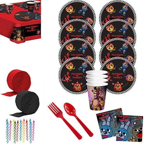 Costume SuperCenter Five Nights at Freddy's Deluxe Tableware Kit (Serves (Night Tableware)