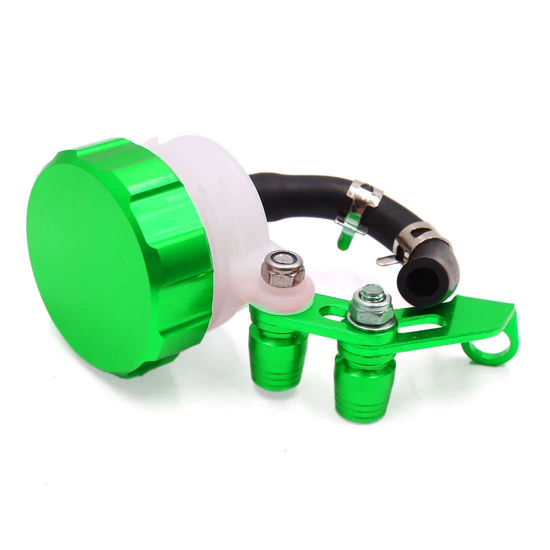 Uxcell a17070300ux1108 Green CNC Universal Motorcycle Front Brake Clutch Reservoir Tank Fluid Oil Cup