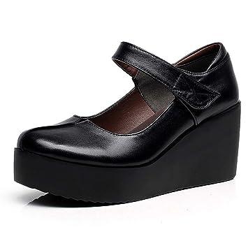 Zapatos De Cuña Zapatos Planos Cómodos Trabajo Suave Zapatos Casuales Mocasines De Oficina Impermeable Lazy Mary