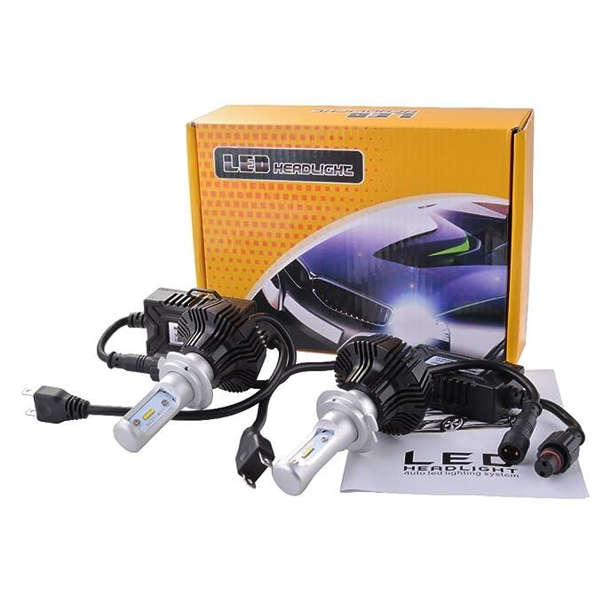 XCSOURCE® 2x H7 LED Faro Bombillas de luces LED 72W 7600Lm LED lámpara Faro Kit de faros Alto 6000K para el coche vehículo: Amazon.es: Iluminación