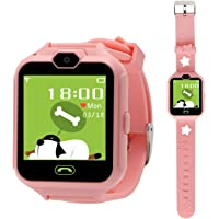 Hangang Reloj (CS05015 Rosa: con Pantalla Táctil, Cámara, Juegos, Llamada. Sin App, GPS)