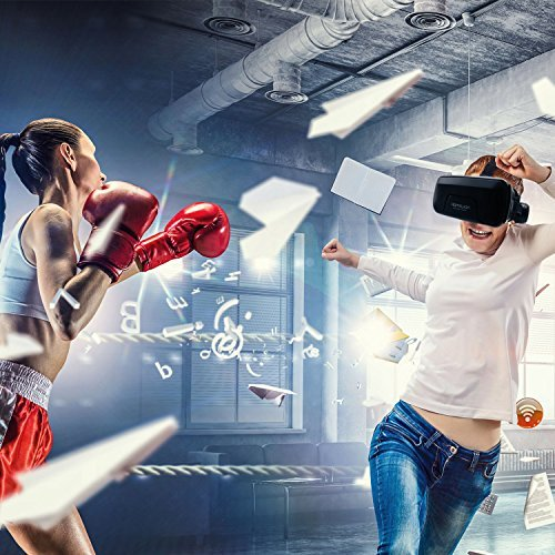 3D VR Glasses, HAMSWAN 3D VR Goggles VR Headset Virtual Reality Goggles Headset Glasses with Built-in Headset, Unique Design and Multifunction Button Compatible with Smartphones within 4.0-6.0 inch by HAMSWAN (Image #8)