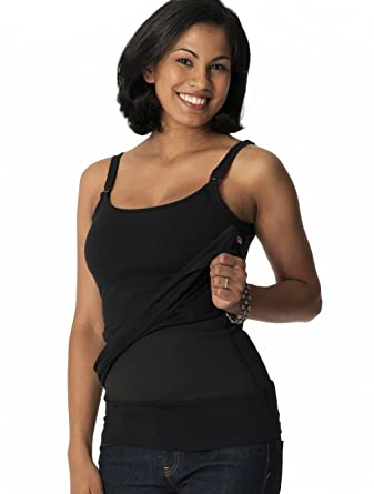 bb15a60ab53 Glamourmom Nursing Bra Tummy Control Long Tanks at Amazon Women s Clothing  store