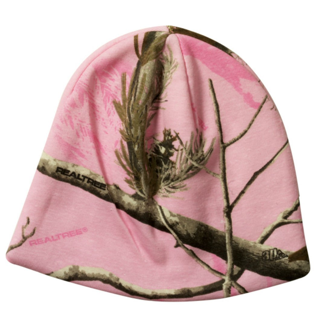 Realtree Licensed Camo Knit Hunting Beanie Pink Camo by Realtree