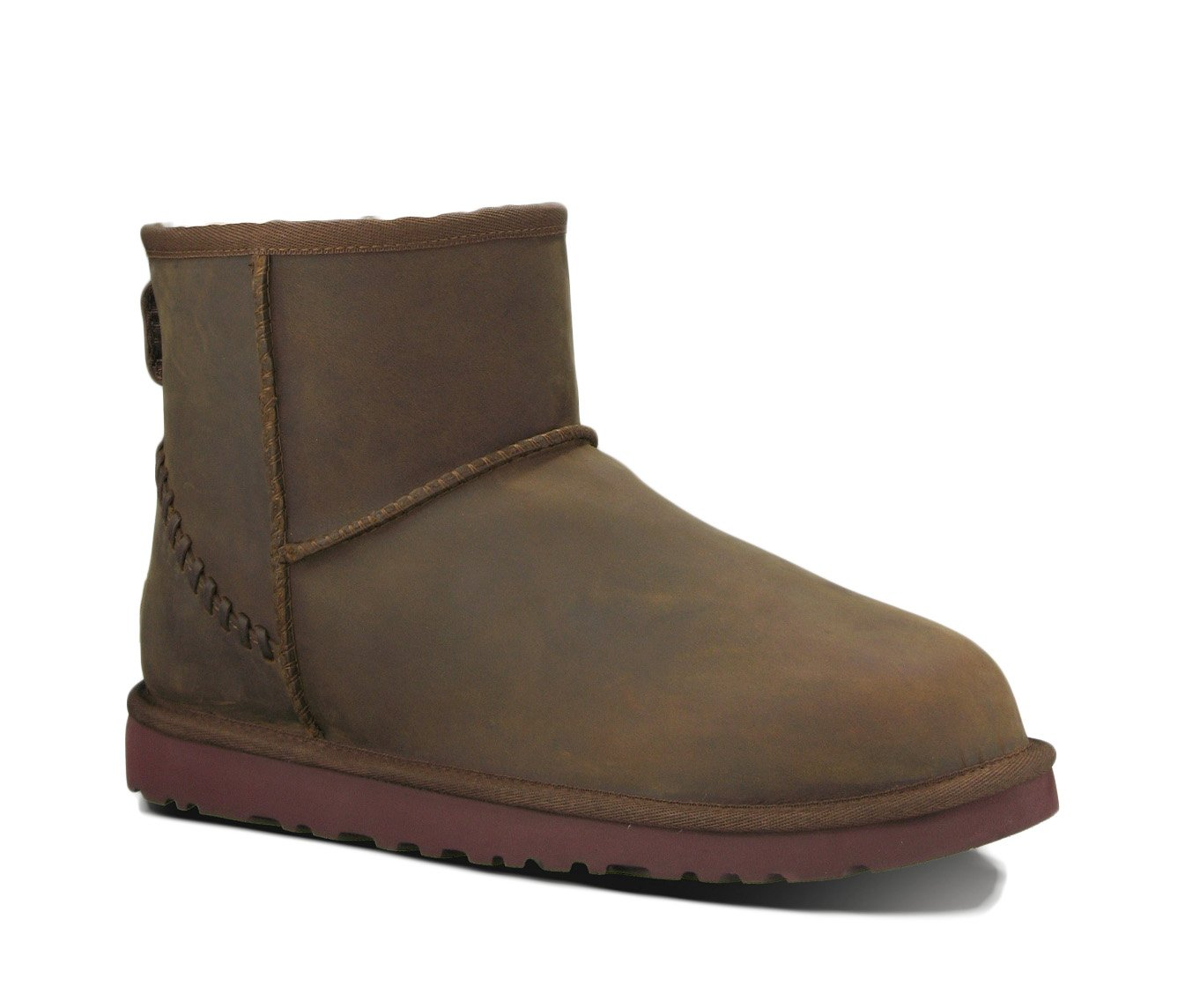 UGG Men's Classic Mini Deco Chestnut Leather Boot 9 D (M)