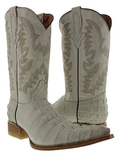 e0ad691abe4 Amazon.com | El Presidente - Men's Crocodile Tail Leather Cowboy ...