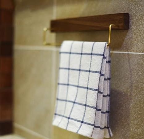 NBE Toallero Minimalista japonés vástago Simple Madera Toallero alargar el Nogal Negro y Colgador de Toallas de latón (Tamaño : 60cm): Amazon.es: Hogar