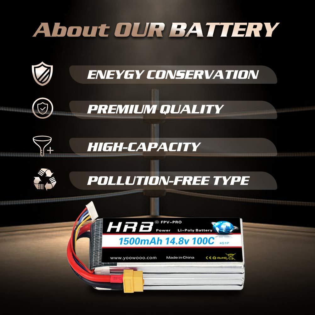 HRB 6S 22.2V 3300mAh 60C Lipo Batterie avec Deans T Plug pour RC Quadcopter 500 Taille h/élicopt/ère Voiture Camion Bateau Hobby