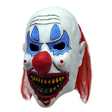 Funny Mask Finder Weird Clown Latex Mask With Red Hair Halloween Costume Prop  sc 1 st  Amazon.com & Amazon.com: Funny Mask Finder Weird Clown Latex Mask With Red Hair ...