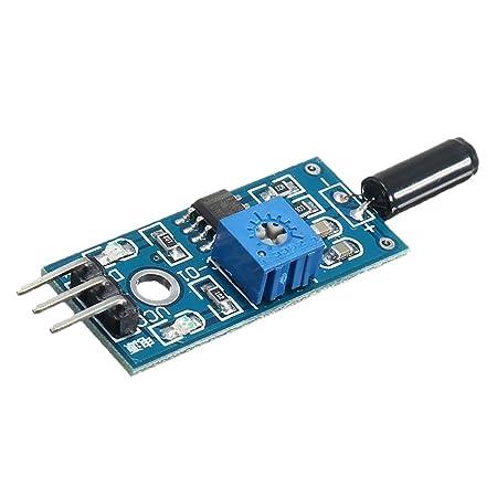 Dolity Módulo de Alarma de Interruptor de Vibración Sensor ...