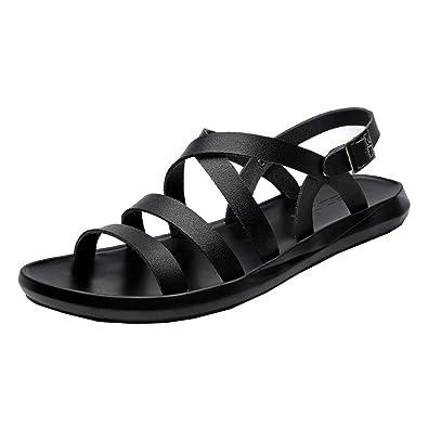 Simple En Homme Plage Sandales Acmede Chaussure De Bout Ouvert Cuir MSqUzVpG