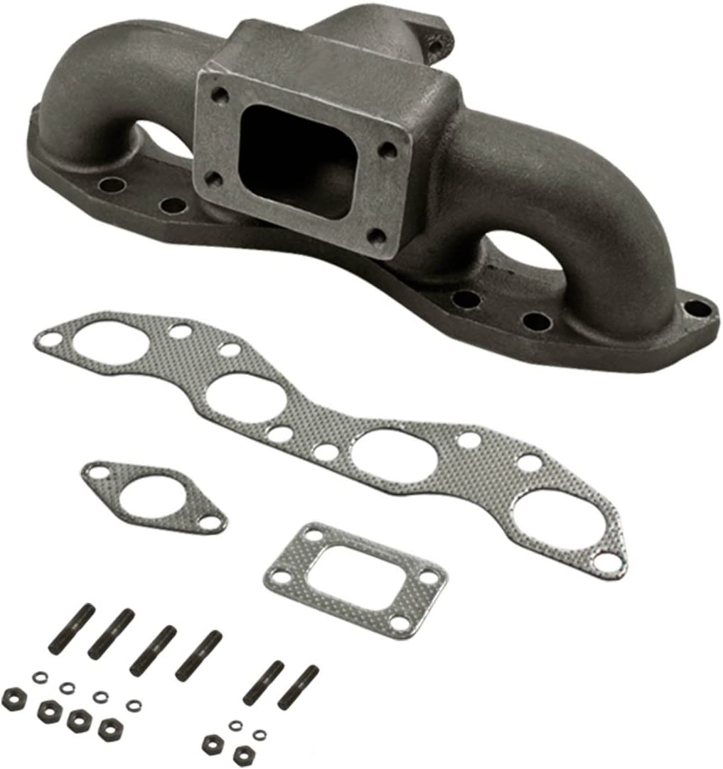 FOR 89-98 240SX S13//S14 SR20DET SILVIA CAST IRON T3//T4 TURBO MANIFOLD EXHAUST