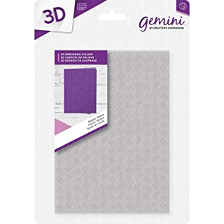 Gemini Crafter' s Companion 12,7x 17,8cm 3D di goffratura–Basket Weave