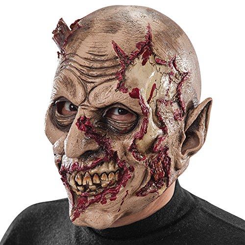 Máscara de látex zombie ensangrentado