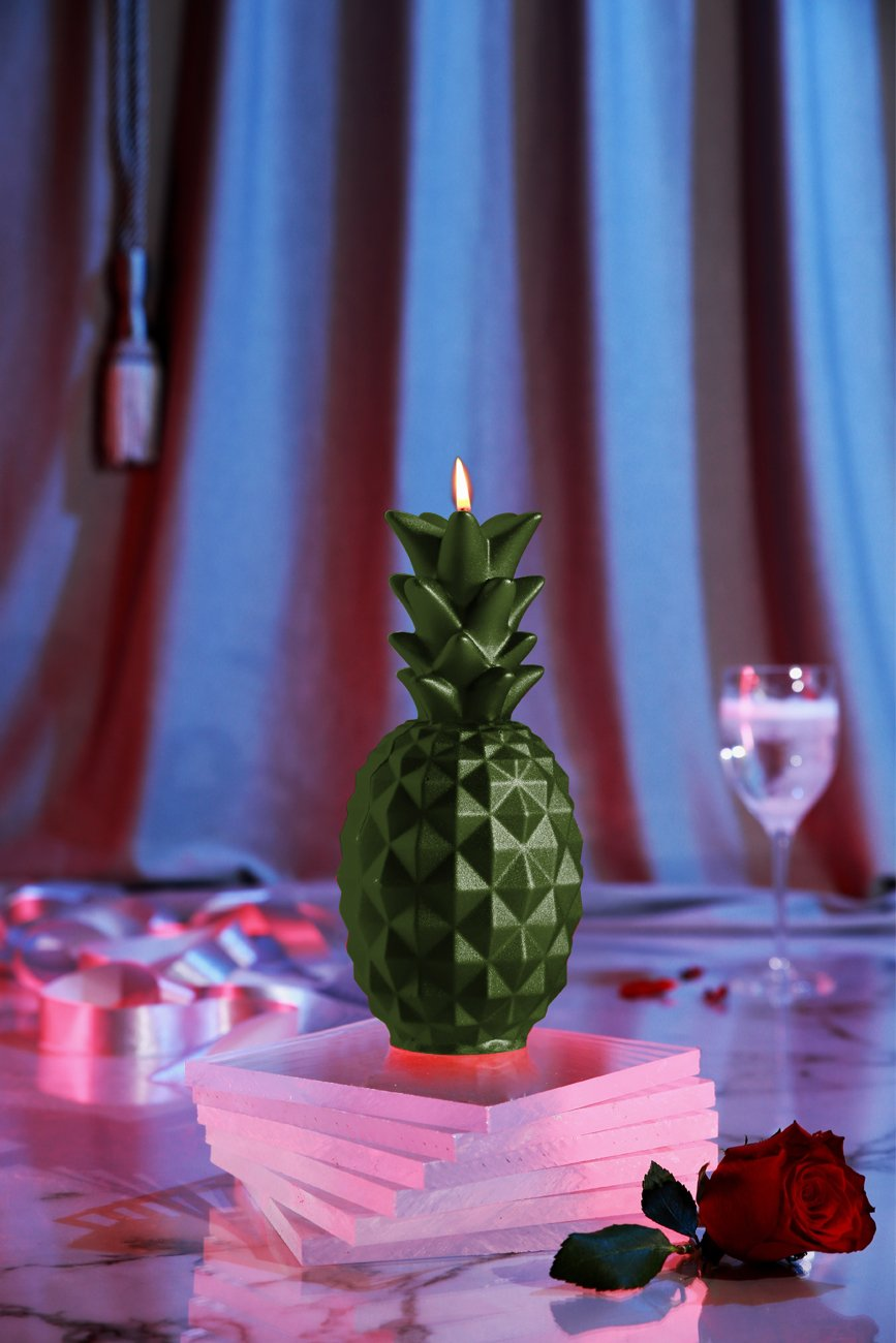 Candellana Candles Candellana- Pineapple Candle Dark Green by Candellana Candles (Image #3)