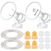 Maymom Breast Pump Kit for Medela Pump in Style Advanced Breast Pumps; 2X Breastshields (one-Piece, 24mm), 4 Valves, 6…