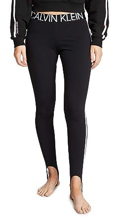 6088988b60e1e Calvin Klein Underwear Women's Statement 1981 Leggings, Black, Small