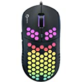 DREVO Falcon Full RGB Lightweight 70g Wired Gaming Mouse 16000DPI Optical Sensor (PixArt PMW 3389), 1000Hz Report Rate…