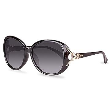 e7cb49fbc7a4 CJJC Gafas de Sol de Moda polarizadas para Mujer Gafas de protección  Ultravioleta de Gran tamaño