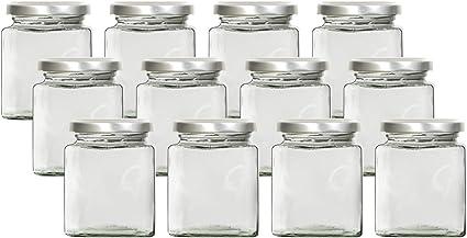 Herbert Juego de 12 tarros de especias de 197 ml con tapa de rosca y etiquetas herm/éticos para guardar especias tarros con tapa accesorios de cocina de cristal