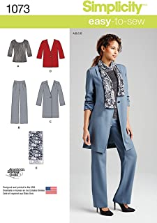 product image for Simplicity 1073 Misses' Pants, Size H5 (6-8-10-12-14)